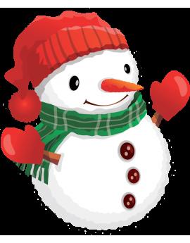 Sticker noël bonhomme de neige