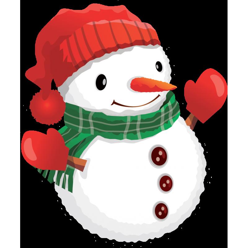 Sticker noël bonhomme de neige - Color-stickers