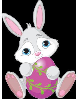 Sticker lapin œuf de Pâques