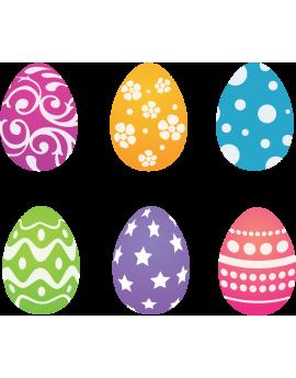 Kit 6 Stickers œufs de Pâques