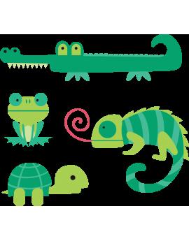 Kit 4 Stickers bébé animaux