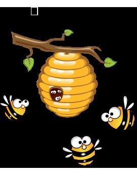 Sticker ruche abeille