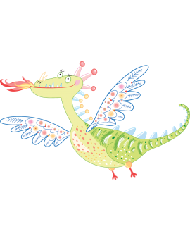 Sticker dragon flamme