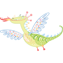 Sticker dragon flamme
