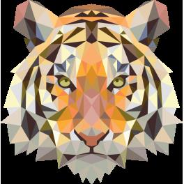 Sticker t te de tigre abstrait color stickers - Image tete de tigre ...