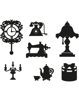 Kit 7 Stickers baroque