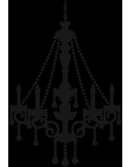 Sticker lustre baroque