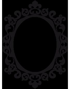 Sticker miroir baroque ornement