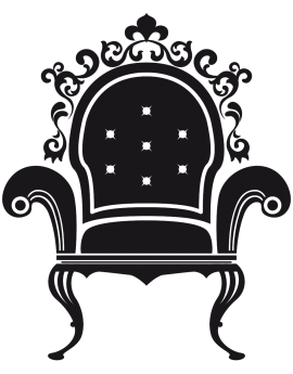Sticker fauteuil baroque