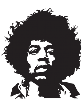 Sticker Jimi Hendrix