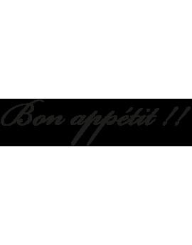 "Sticker phrase ""Bon appétit"""