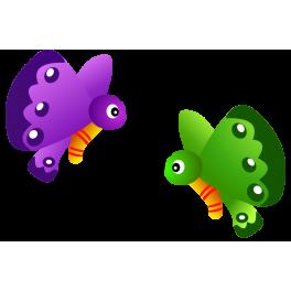 Stickers petits papillons bébé