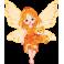 Sticker petite fée jaune ourson
