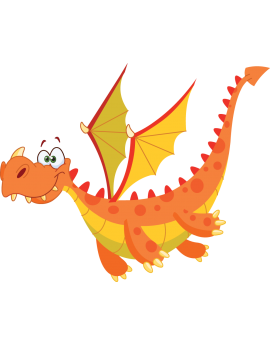 Sticker chevalier dragon