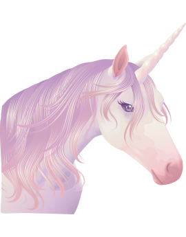 Sticker licorne féérique
