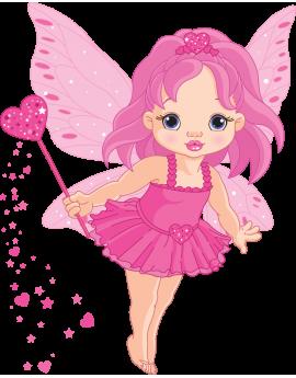 Sticker fée rose magique