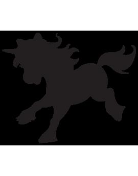 Sticker féérique licorne