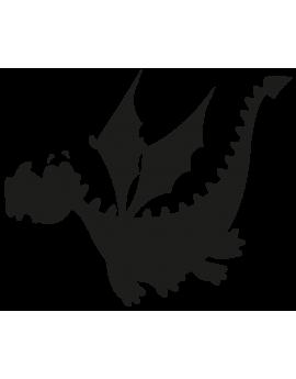 Sticker dragon silouhette