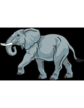 Sticker éléphant d'Afrique