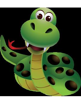 Sticker serpent jungle enfant