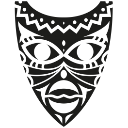masque africain png