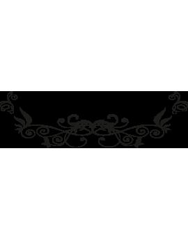 Sticker tête de lit spirale florale
