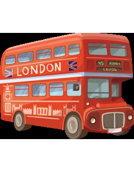 Sticker bus rouge Londres