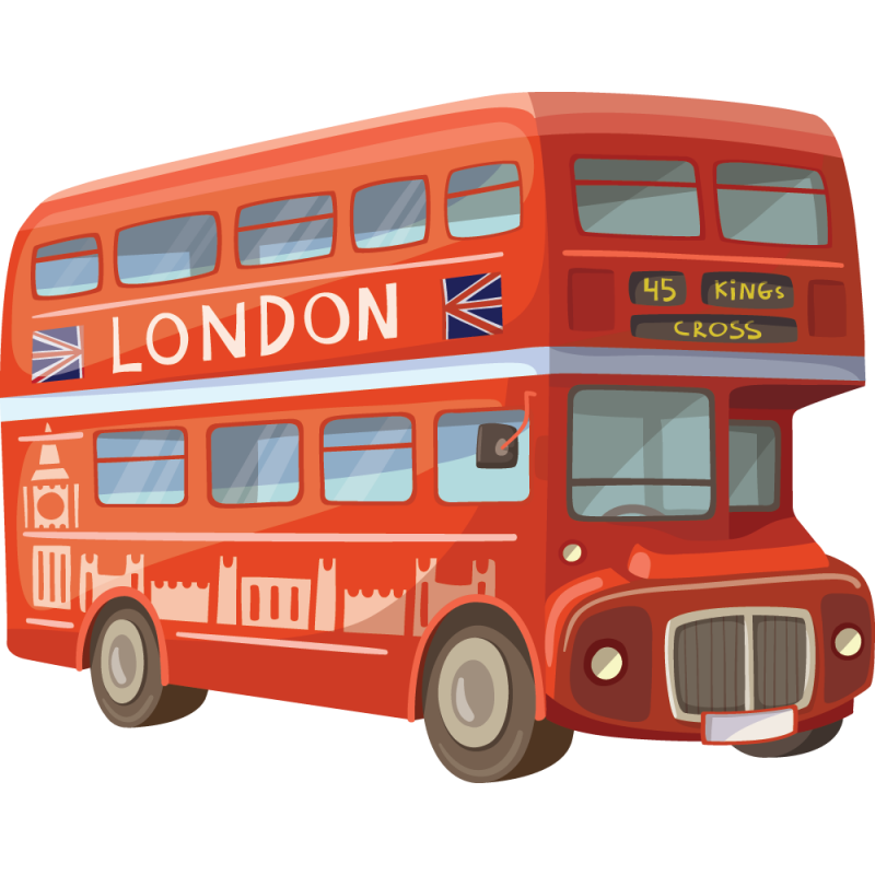 sticker bus rouge londres color stickers. Black Bedroom Furniture Sets. Home Design Ideas