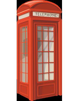 Sticker cabine téléphonique rouge Londres