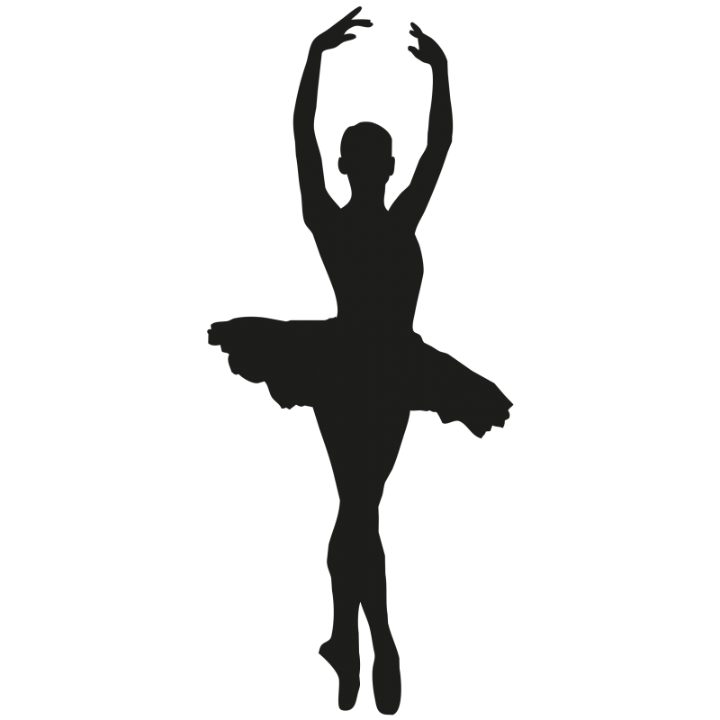 sticker danseuse toile ballet color stickers. Black Bedroom Furniture Sets. Home Design Ideas