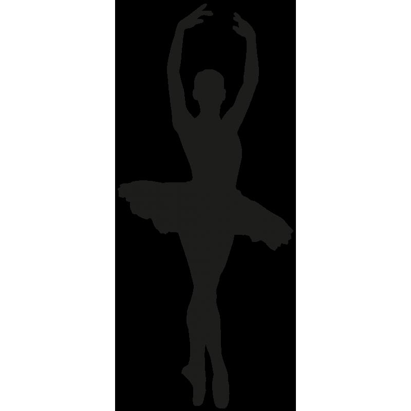 sticker danseuse toile ballet color stickers. Black Bedroom Furniture Sets. Home Design Ideas
