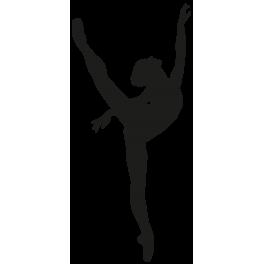 Sticker danseuse toile ballet color stickers - Porte cle photo plastique transparent ...