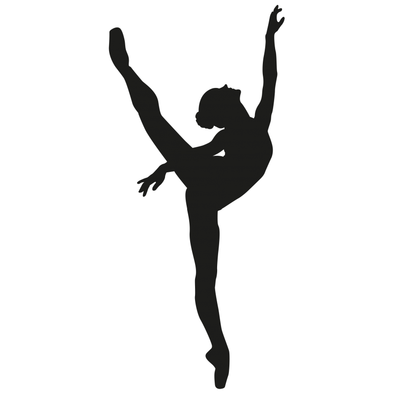 sticker danseuse toile ballet color stickers