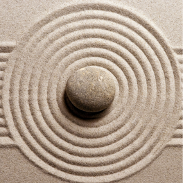 Tableau zen galet sable