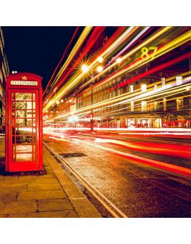Tableau Londres Cabine téléphonique rouge