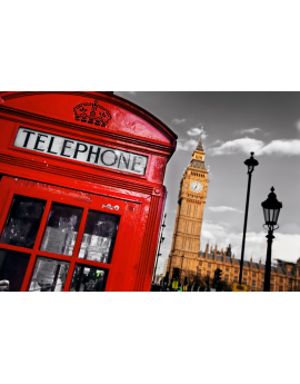 Tableau Londres Cabine rouge