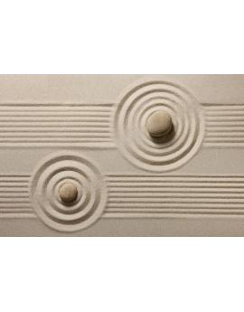 Tableau zen galets sable