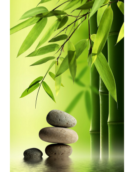 Tableau zen galets  bambou