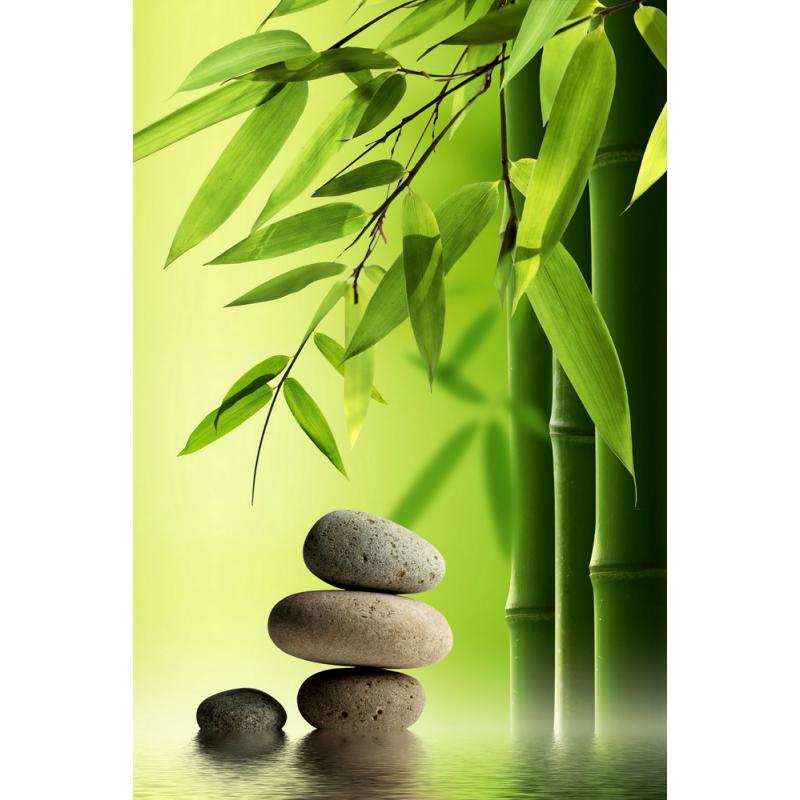 tableau zen galets bambou color stickers. Black Bedroom Furniture Sets. Home Design Ideas
