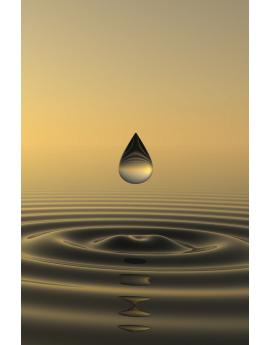 Tableau zen goutte d'eau