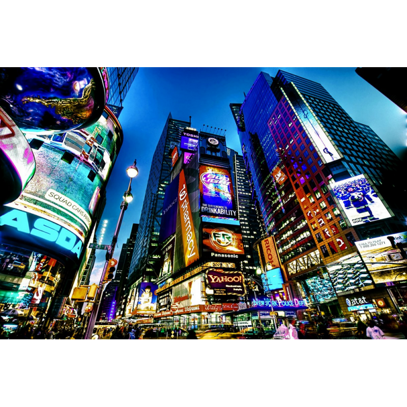 Tableau new york city times square color stickers - Tableau de new york ...