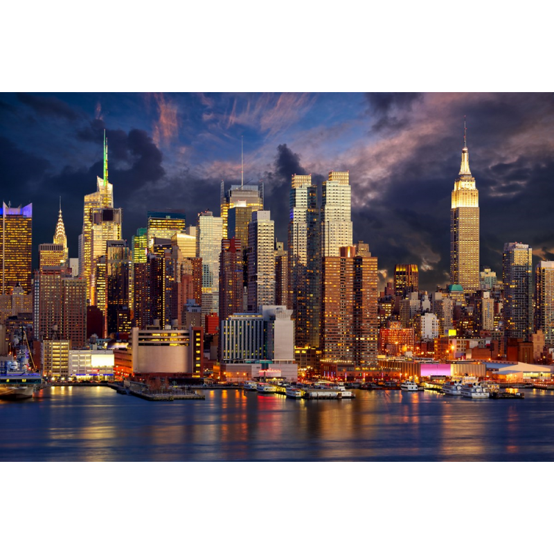 Tableau New York City bulding - Color-stickers