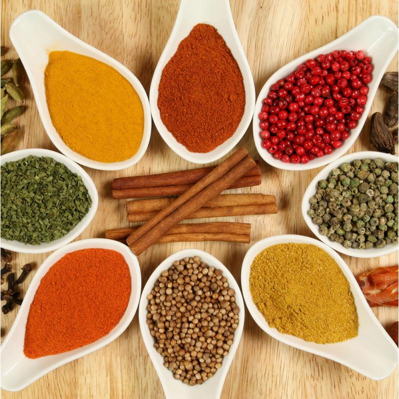 Tableau cuisine herbes et pices color stickers for Epices de cuisine