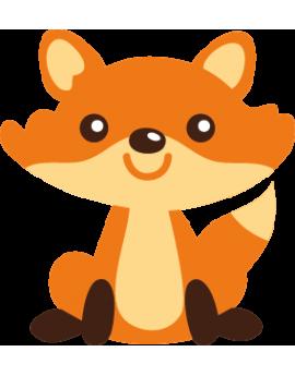 Stickers bébé renard