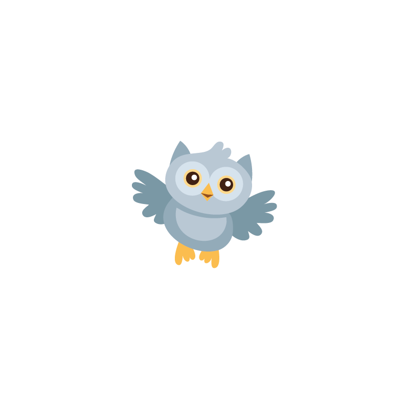 sticker hibou bleu colorstickers