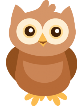 Sticker hibou brun