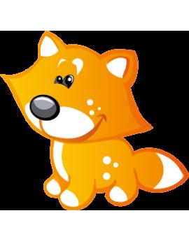 Sticker petit renard roux