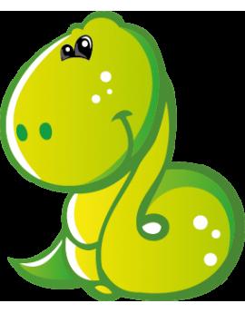 Sticker petit serpent vert