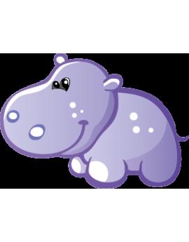 Sticker petit hippopotame