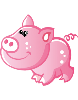 Sticker petit cochon